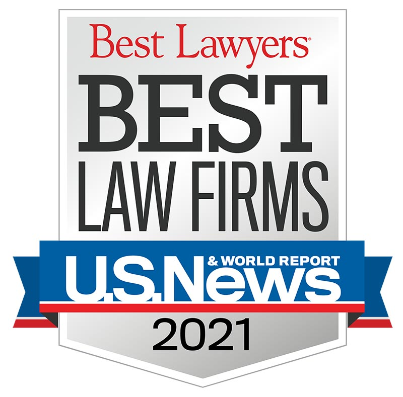 Best Law Firms 2021 badge