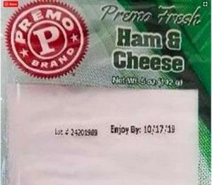 Listeria Lawyer Premo ham& cheese sandwiches