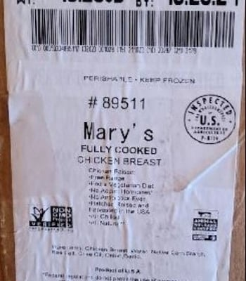 Mary's Chicken Breast Label Recall